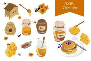 Apiary vector illustration