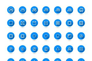 Big set of laundry symbols icons