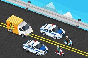 Police Motorcade Car Important Toxic