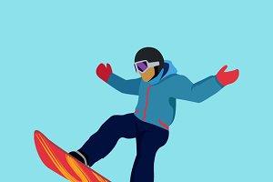 Set Extreme Sport Snowboard Design