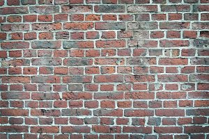 Colorful old brick wall texture