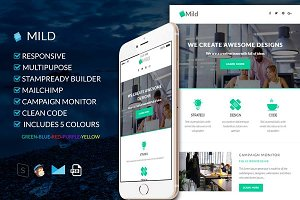 Mild 5 Colours-HTML Email Template