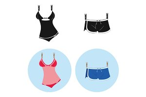 Men's Swimwear and Women's Swimsuit