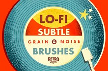 Lo-Fi Subtle Grain Brushes Affinity by  in Add-Ons