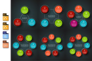 Infographics template set v.23
