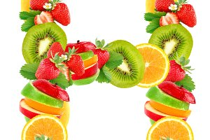 Letters are from fruit
