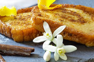 Traditional Spanish torrijas