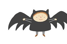 Boy with a bat costume