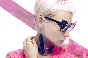 Blond in fashion Sunglasses