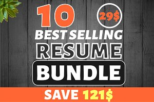 10 Best Selling Resume Mega Bundle