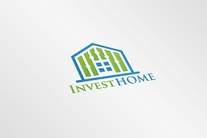 Invest Home Logo Template