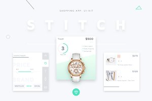 STITCH - Shopping app UI Kit