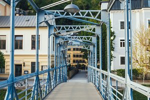 Steel bridge in Salzburg