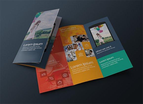 Modern brochure template brochure templates creative market saigontimesfo