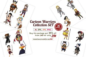 Ancient cartoon warriors set pack!