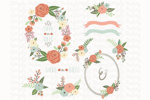 Wedding Flower Wreath Set