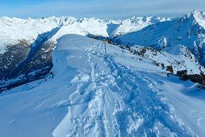 Winter mountain slope.