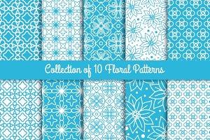 Simple floral patterns set