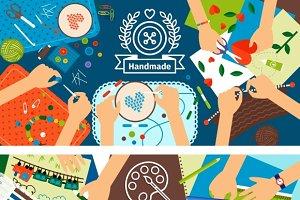 Handmade creative kids banners