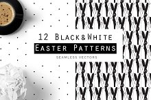 Easter Patterns in Black & White