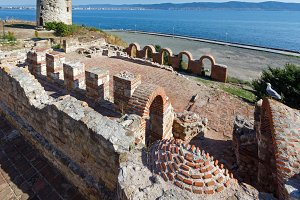 Wall of Old Nessebar.