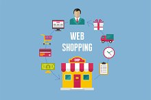 Web Shopping - Illustration Concept