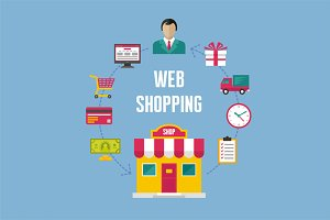 Web Shopping - Illustration Concept