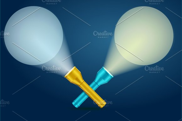 Lignt Torch Banner. Vector - Illustrations