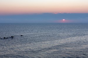Sunrise Sea Scenery.