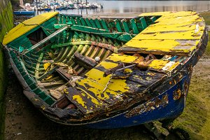 Abandoned fishing boat