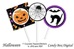 Halloween Cupcake Toppers/Stickers