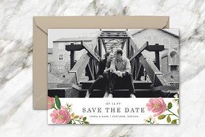 Blush Bouquet Save the Date