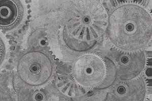 Cogwheels background