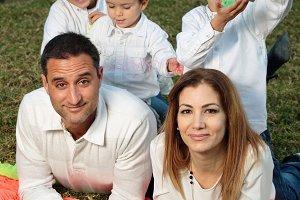 Familia en un parque en Elche