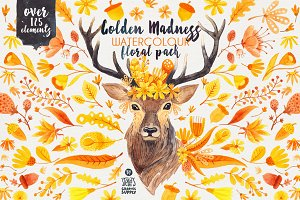 Golden Madness - Floral Pack