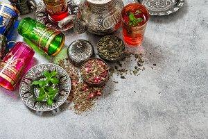 Herbal tea oriental style