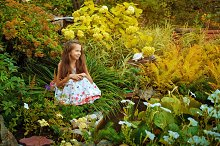 Girl in garden