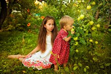 Sister in the garden