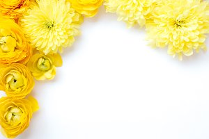 Yellow Flowers 2 Styled Stock Photo
