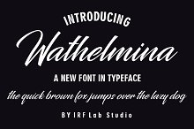 Wathelmina by  in Fonts