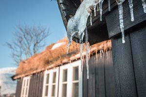 Icicle on roof