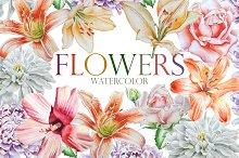 Flowers. Watercolor.