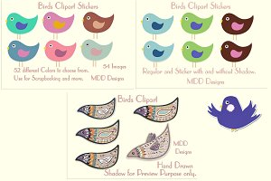 Birds Clipart and Stickers