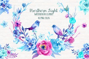 Watercolor Clipart Northern Light