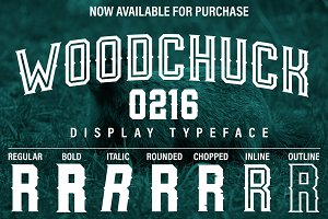 Woodchuck 0216 Display Typeface