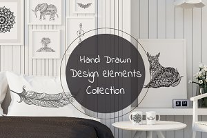 Hand drawn elements collection