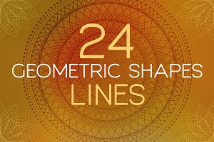 24 Geometric Shapes - Lines (v.1)