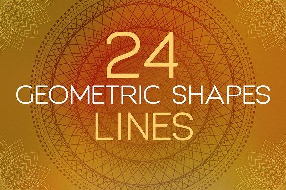 24 Geometric Shapes - Lines (v.1) - Objects