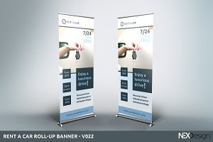 Rent a Car Roll-Up Banner - SK
