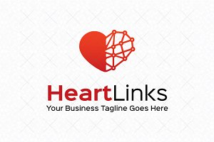 Heart Links Logo Template